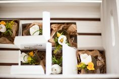 boxes of boutonnieres // Fresh Yellow + Green Wedding in Madison, WI | Images by New Angus Studio Photography