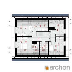 Projekt domu Dom w zdrojówkach - ARCHON+ Steel Frame House, Traditional House, House Plans, Floor Plans, How To Plan, Kpop, Garden, House 2, House