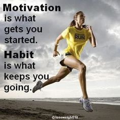 Motivation is what gets you started. Habit is what keeps you going.  💪🏽 💚💛❤ Share it with your friends and family if you agree!  😃 Follow us for more!   #weightlossmotivation #training #health #healthy #instahealth #healthychoices #active #strong #motivation #like4like #likeforlike #weightloss #fitness #fit #fitnessmodel #fitnessaddict #fitspo #workout #bodybuilding #cardio #gym #train