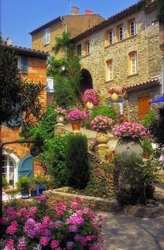Beautiful Village of Bormes les Mimosas, Provence, France Places Around The World, The Places Youll Go, Places To See, Around The Worlds, Beautiful World, Beautiful Gardens, Beautiful Gorgeous, Wonderful Places, Beautiful Places