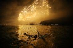 La celebración en Copacabana, Río de Janeiro, Brasil. | Getty Images.