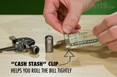 Cash Stash Keychain Capsule: Store cash in case of an emergency