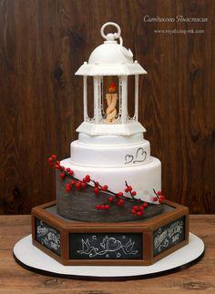 Country Wedding Cake by Anastasia - http://cakesdecor.com/cakes/237258-country-wedding-cake