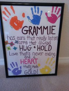 Grammie Painting | DIY Mothers Day Crafts for Grandma
