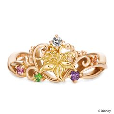 Tangled inspired ring by K.uno in Japan!