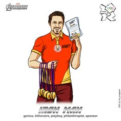 Ironman at the Olympic Games, The Avengers