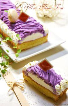⁂Purple Sweet Potato Mont Blanc Tart⁂