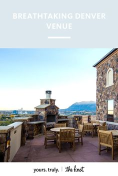 Bring the charm of Tuscany to your Colorado wedding with climbing walls, rustic architecture and mountain views.