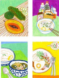 Aunyarat Watanabe | <タイ料理> パパイヤ、ジョーク、グリーンカレー、ガイガッパオ