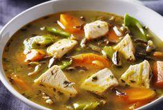 Chicken, Wild Rice & Green Garlic Soup #ChickendotCA