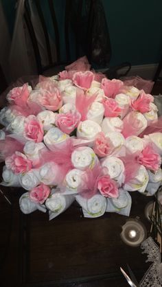 Top of Diaper bouquet ❤️ #diapercake