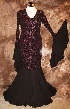 PINK & BLACK GLITTER PAGEANT GOWN/DRESS/COSTUME/DRAG QUEEN/ Sz: 16-26 (Maybe 28)