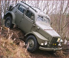 1956 Volvo Sugga doing a bit of off roading, bit of a different vehicle but still looks like it could handle itself
