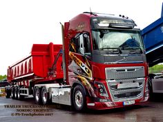 Q lindooooo 😍😍😍 Big Rig Trucks, Dump Trucks, New Trucks, Cool Trucks, Volvo V8, Volvo Trucks, Train Truck, Road Train, Customised Trucks