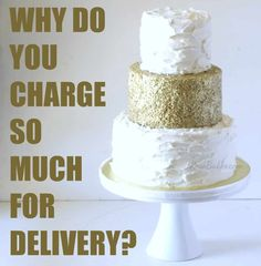 How to Charge for Cakes. I give my answer for how to charge for cakes. What should you consider in setting your prices? Birthday Cake Prices, Birthday Cake Delivery, Wedding Sheet Cakes, Wedding Cake Prices, Wedding Stuff, Bakery Delivery, Online Cake Delivery, Baking Business, Cake Business
