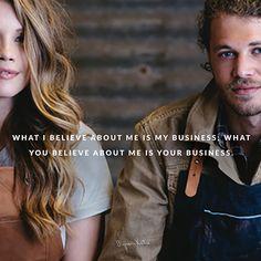 מה שאני מאמינה על עצמי זה ענייני; מה שאתה מאמין עלי זה עניינך. ~ ביירון קייטי