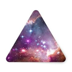 Customizable galaxy nebula bright space and stars hipster star NASA photograph of pink, purple and blue galaxy nebulae - clouds - galaxies sci-fi triangle stickers