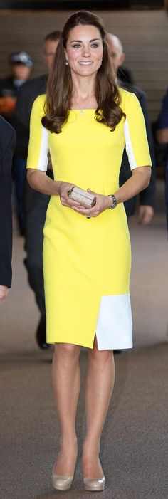 Kate middleton yellow dress in australia