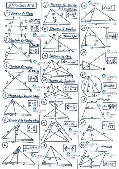 Geometry Formulas, Math Formulas, Math Tumblr, Cool Math Tricks, Math Tutorials, Math Charts, Maths Solutions, Physics And Mathematics, Math Notes
