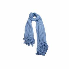 Pashmina Tricot Azul de Lã #pashmina #pashimina #modafeminina #fashion #scarf #scarfs