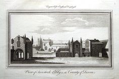 A fine highly detailed good sized copper engraved antique print entitled VIEW OF TAVISTOCK ABBEY IN THE COUNTY OF DEVON A lovely old print on hand Antique Maps, Antique Prints, Tavistock, Devon, Copper, England, Display, London, Antiques