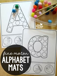 Fine Motor Alphabet Mats {uppercase & lowercase} – This Reading Mama Fine Motor Alphabet Mats {uppercase & lowercase} – This Reading Mama Fine Motor Activities For Kids, Motor Skills Activities, Toddler Learning Activities, Letter Activities, Phonics Activities, Preschool Letters, Fine Motor Skills, Preschool Sign In Ideas, Alphabet Activities Kindergarten