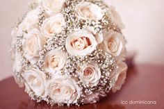 Perf!! baby pink roses and baby breath bouquet