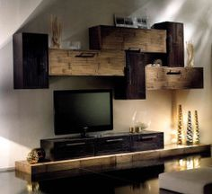 Save the planet - Use Bamboo Modern Tv Wall, Modern Tv Units, Tv Wanddekor, Tv Cabinet Design, Muebles Living, Tv Wall Decor, Living Room Decor Inspiration, Apartment Makeover, Tv Furniture
