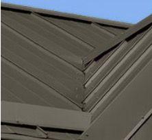 Roof Metal Spectra Bronze Metal Roof Gutters Wood
