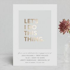 24 Engagement Invitations You'll Love for Your Engagement Party Laser Cut Wedding Invitations, Engagement Party Invitations, Wedding Invitation Design, Event Invitations, Cheap Invitations, Wedding Stationery, Invites, Wedding Cards, Wedding Events