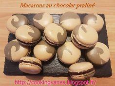 Macarons au chocolat praliné