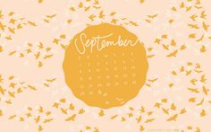 september desktop + iphone calendars by bonniechristine, via Flickr
