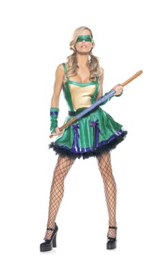 Ninja Babe Costume S/M - Be Wicked Costumes 3 Piece Ninja Babe includes stretched lycra turtle dress, mask, gauntlets. Wicked Costumes, Animal Halloween Costumes, Turtle Costumes, Halloween News, Cool Costumes, Adult Costumes, Costumes For Women, Green Costumes, Anime Halloween