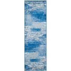 Adirondack Silver/Blue 2 ft. 6 in. x 12 ft. Runner