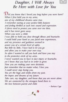 Love You Always Daughter
