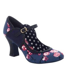 Ruby Shoo CASSANDRA Vintage FLORAL Jacquard High Heels PUMPS Schuhe Rockabilly
