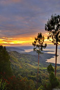 Lake Toba, North Sumatra is the largest volcanic lake in the world and the site of the largest volcanic eruption in the last 2 million years.