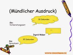 http://www.engerman.de/2014/12/testdaf-teil-mundlicher-ausdruck.html Der mündliche Ausdruck ist den letzte Teil der TestDaF Prüfung.Es besteht aus 7 Aufgaben. Jede A...