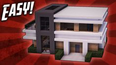 Minecraft: How To Build A Small Modern House Tutorial (#18) In this Minecraft build tutorial I show you how to make a small modern house with a very spacious interior, allowing plenty of space for all the essential rooms while still maintaining a simple and compact design. ► Follow My Social Media! ● Twitter: ● Instagram: ► Credits ♫ Song: