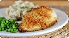 Parmesan Garlic Chicken Breasts....these are delicious and sooo easy, but not low calorie!