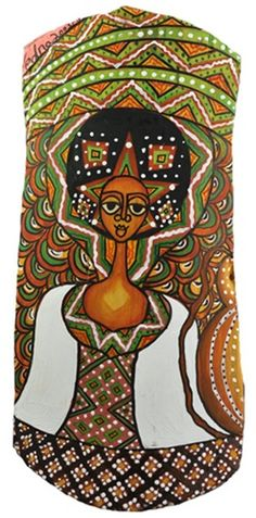 """Gobez Woman palmwood art.  In Amharic, """"gobez"""" means good.  I'd like a little more Ethiopian art to grace our home."""