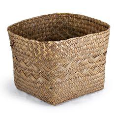 "Alexa Large Square Bottom w/ Round Top Rim Planter Basket - Coffee. Dimensions: 10.25"" Diameter x 7.75"" H.  $2.50 clearance"