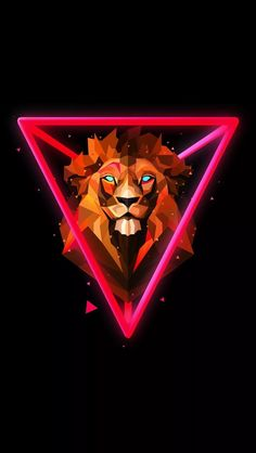 art wallpaper lion