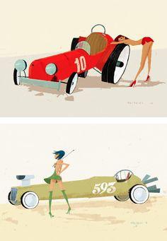 Illustrations by Simone Massoni | Inspiration Grid | Design Inspiration