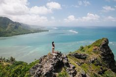 A quick hike to see wonderful views of Kaaawa, Kahana Bay and the wide open Pacific Ocean. Oahu, Hawaii.