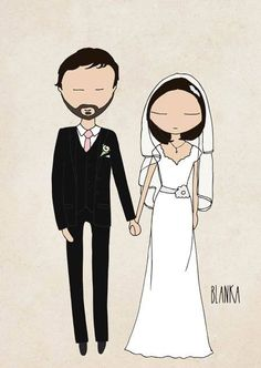 Custom wedding illustration - digital file you can use on your invitations or…