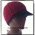 Crochet Mens Ball Cap - Free pattern by DearestDebi