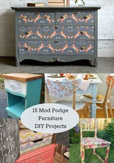 15 unique decoupage furniture projects - Mod Podge Rocks. I may have to do this with Alexia's bookcase