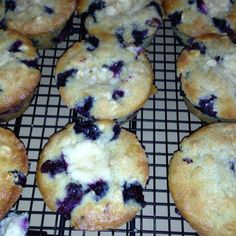 Blueberry Cream Cheese Muffins -   I did it! They are pretty tasty & I substituted with what I had.