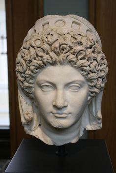 A Roman Marble Portrait Head of Julia Titi, Daughter of the Emperor Titus |